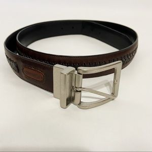 Columbia Men's Reversible Brown Leather Belt